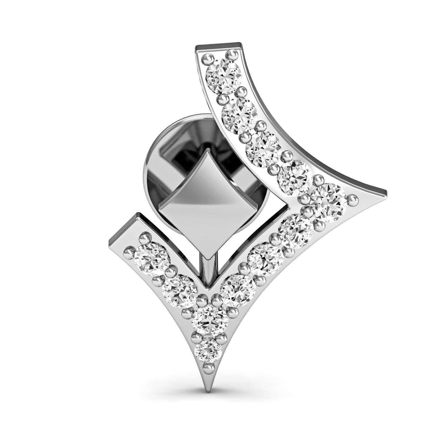 Diamoire Jewels Dignified Premium Diamond Earrings in White Gold i3IDy