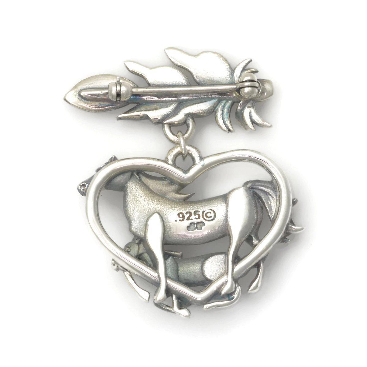 Donna Pizarro Designs Sterling Silver Mare And Colt Pendant
