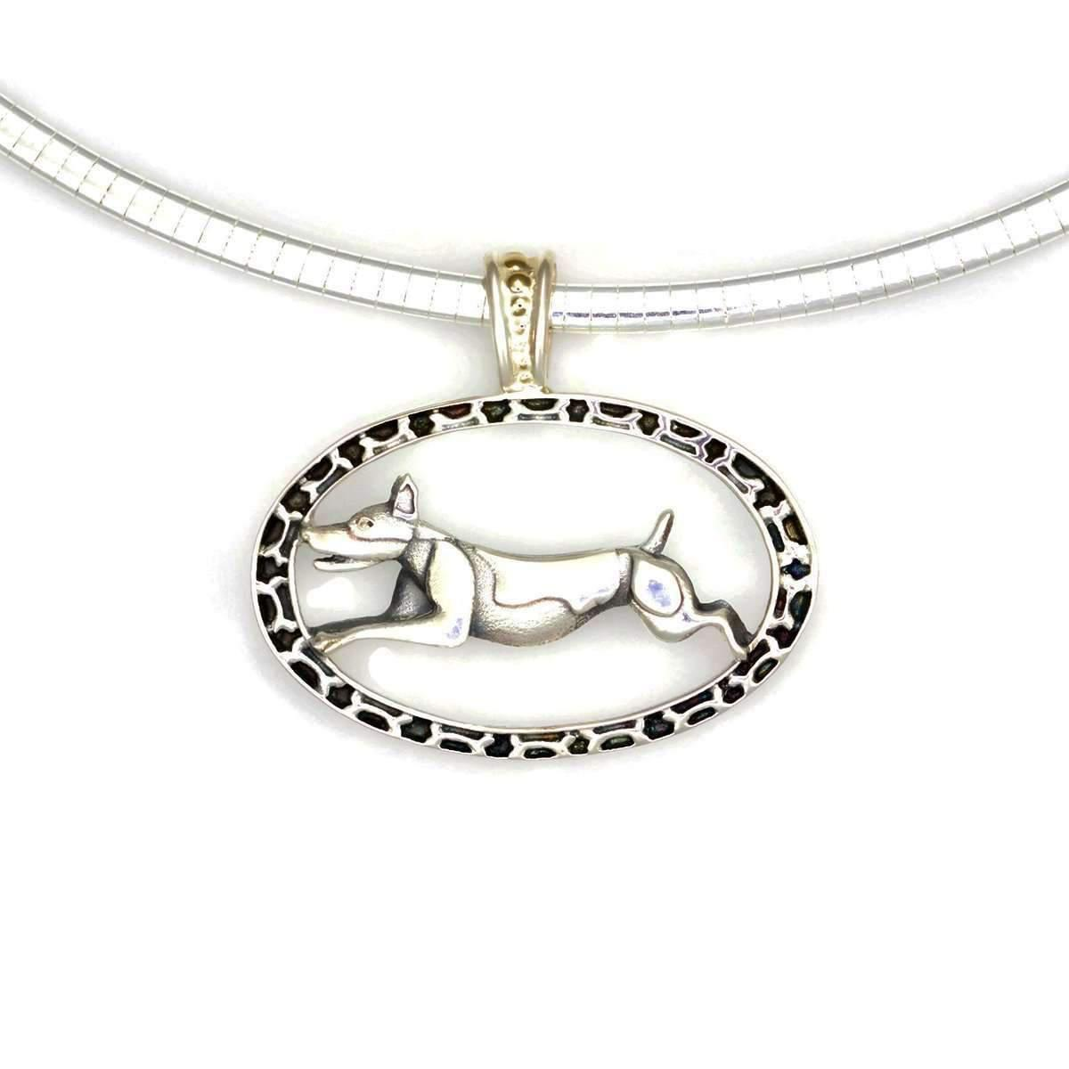 Donna Pizarro Designs Sterling Great Pyrenees Necklace With 14kt Accent pTrZIJf2