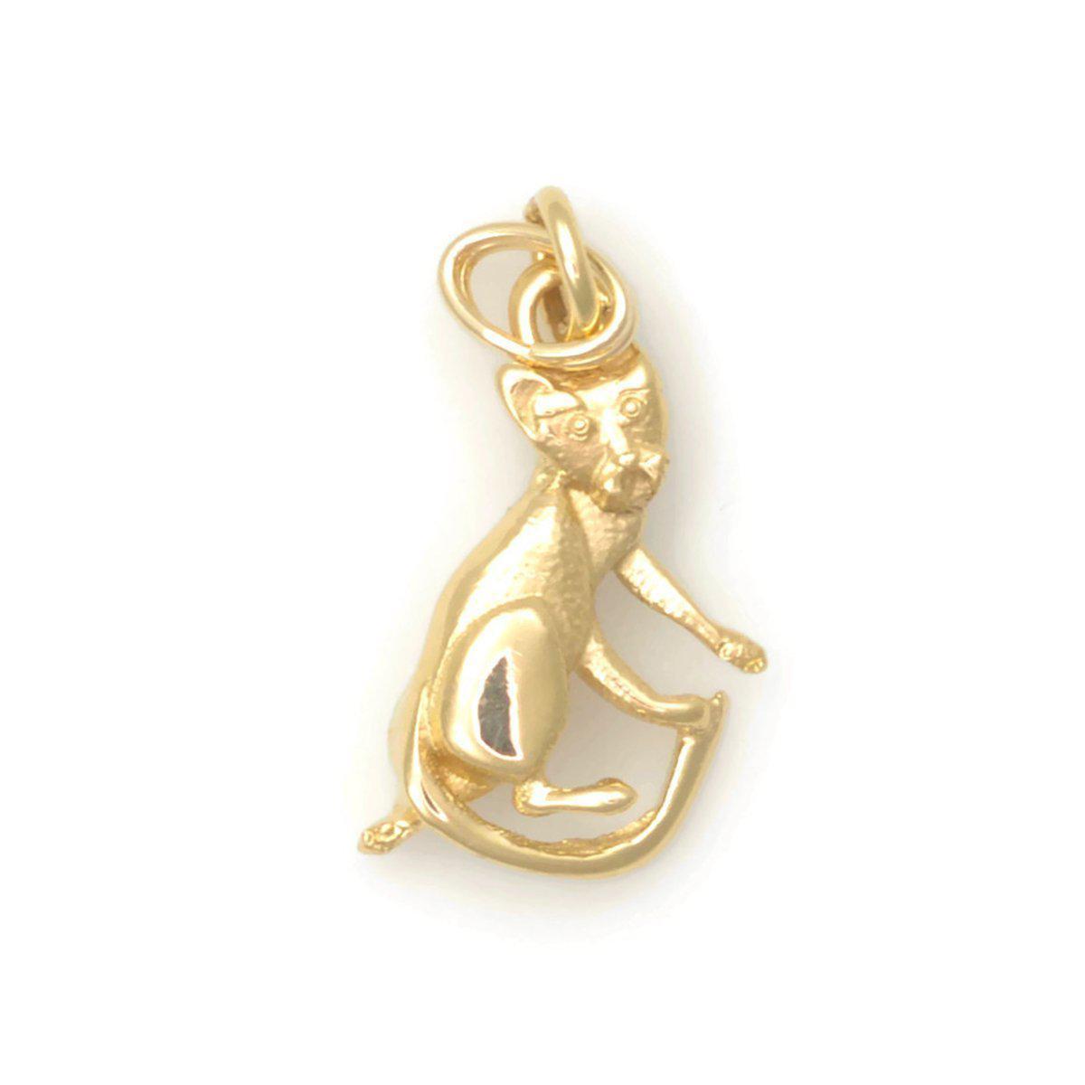 Donna Pizarro Designs 14kt Yellow Gold Playful Cat Charm cPLXzN