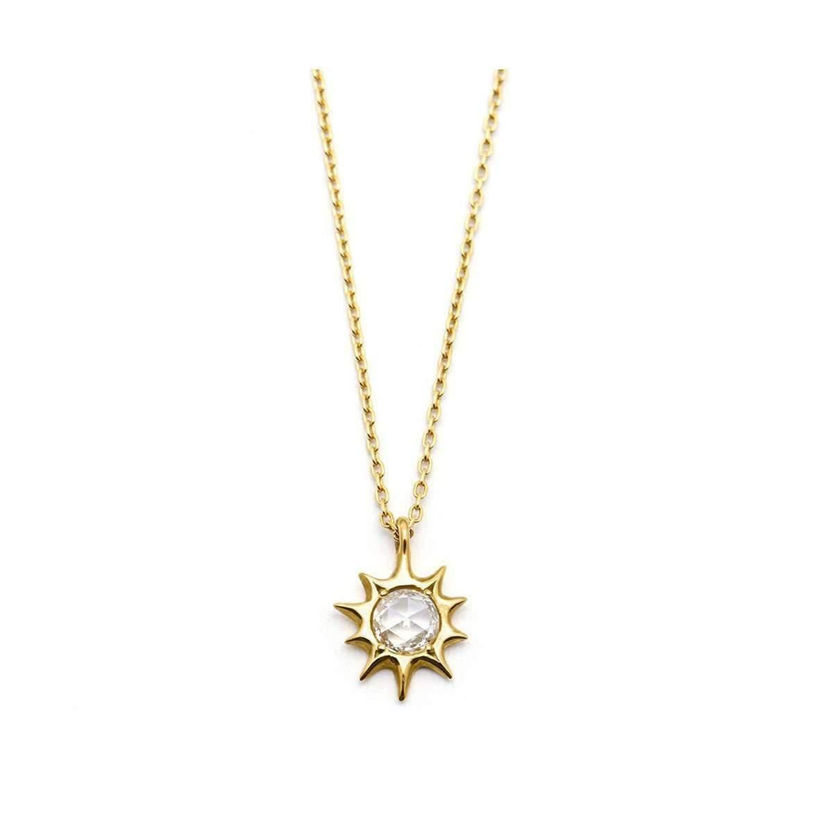 necklace gold of jewellery the sun crossbrushed pendant temple golden delli