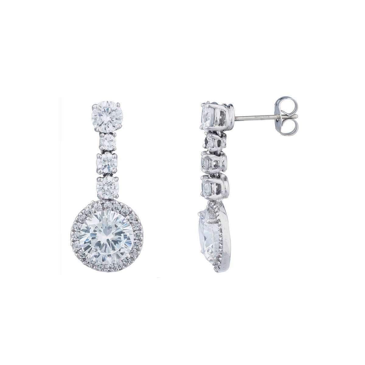 Fantasia Sterling Silver & Palladium Antique Drop Earrings FhuJk3