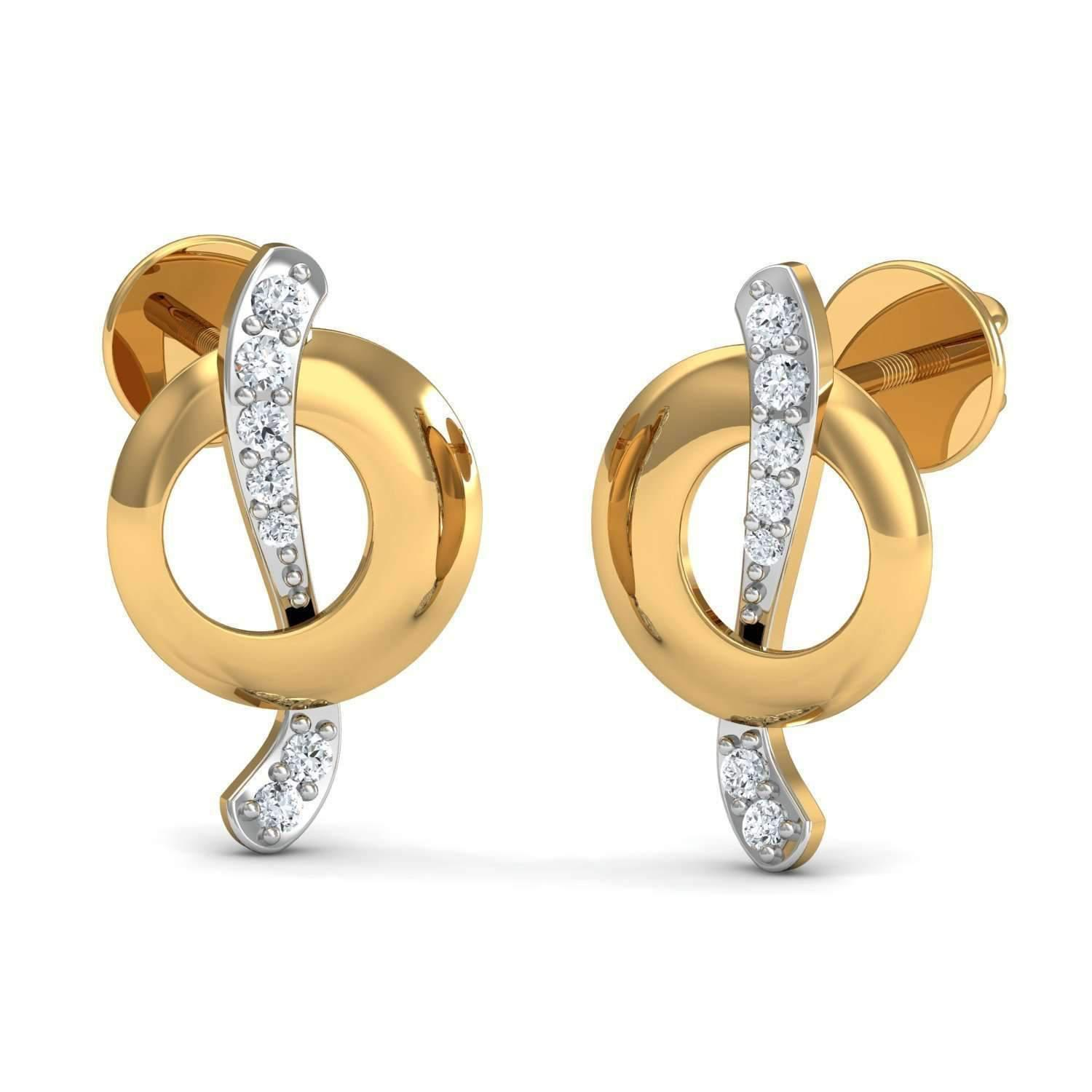 Diamoire Jewels Pave Earrings Inspired by Nature Handmade with 10kt White Gold and 34 Premium Diamonds NV99Jvx5ZR
