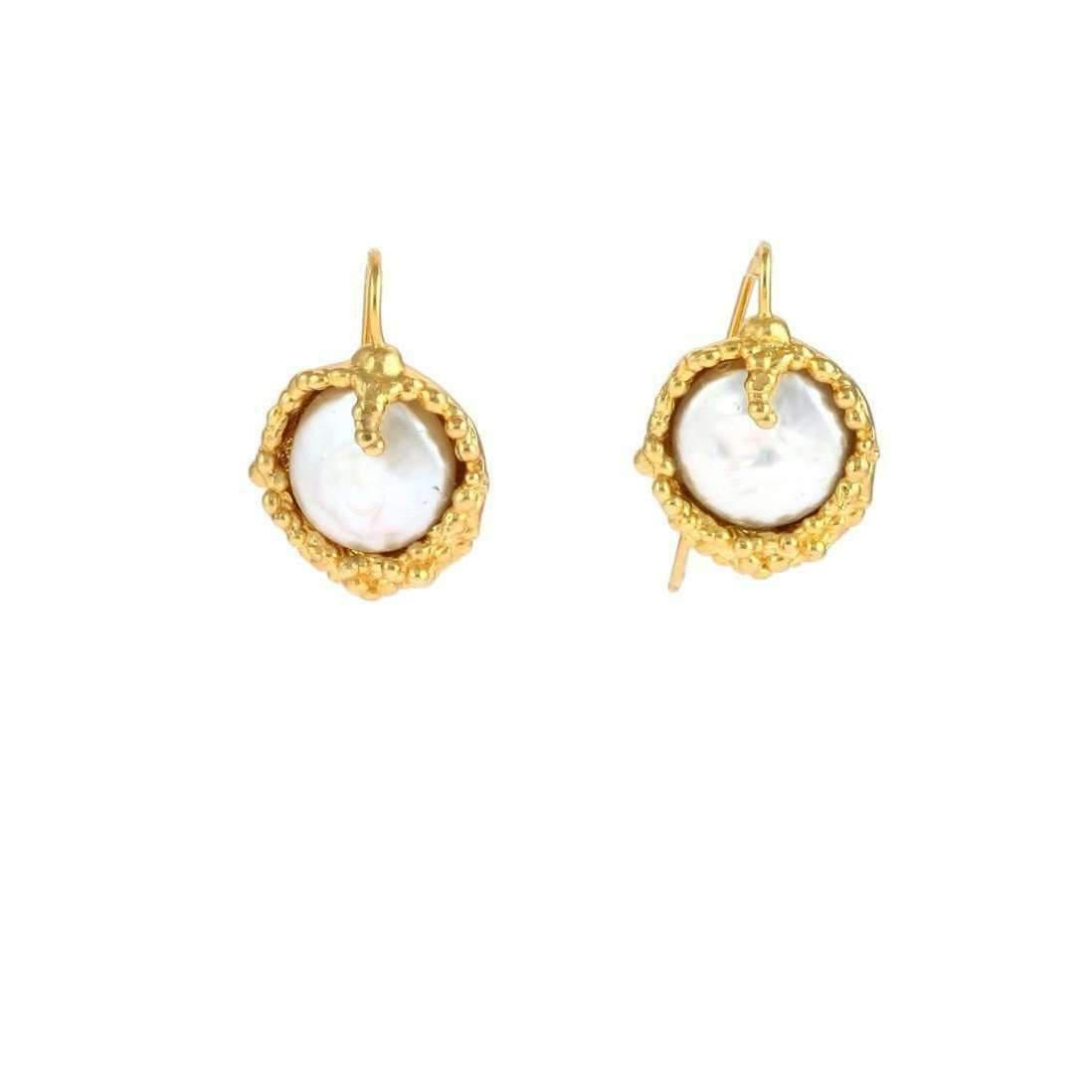 earrings gold for pin small disc gift simple her