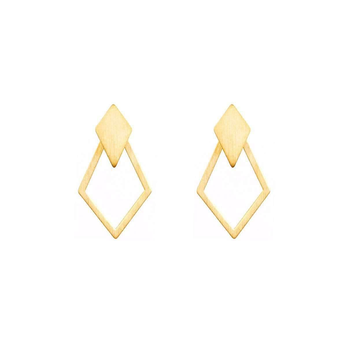 Dutch Basics Gold Plated Ruit Detachable Earrings frKQJd
