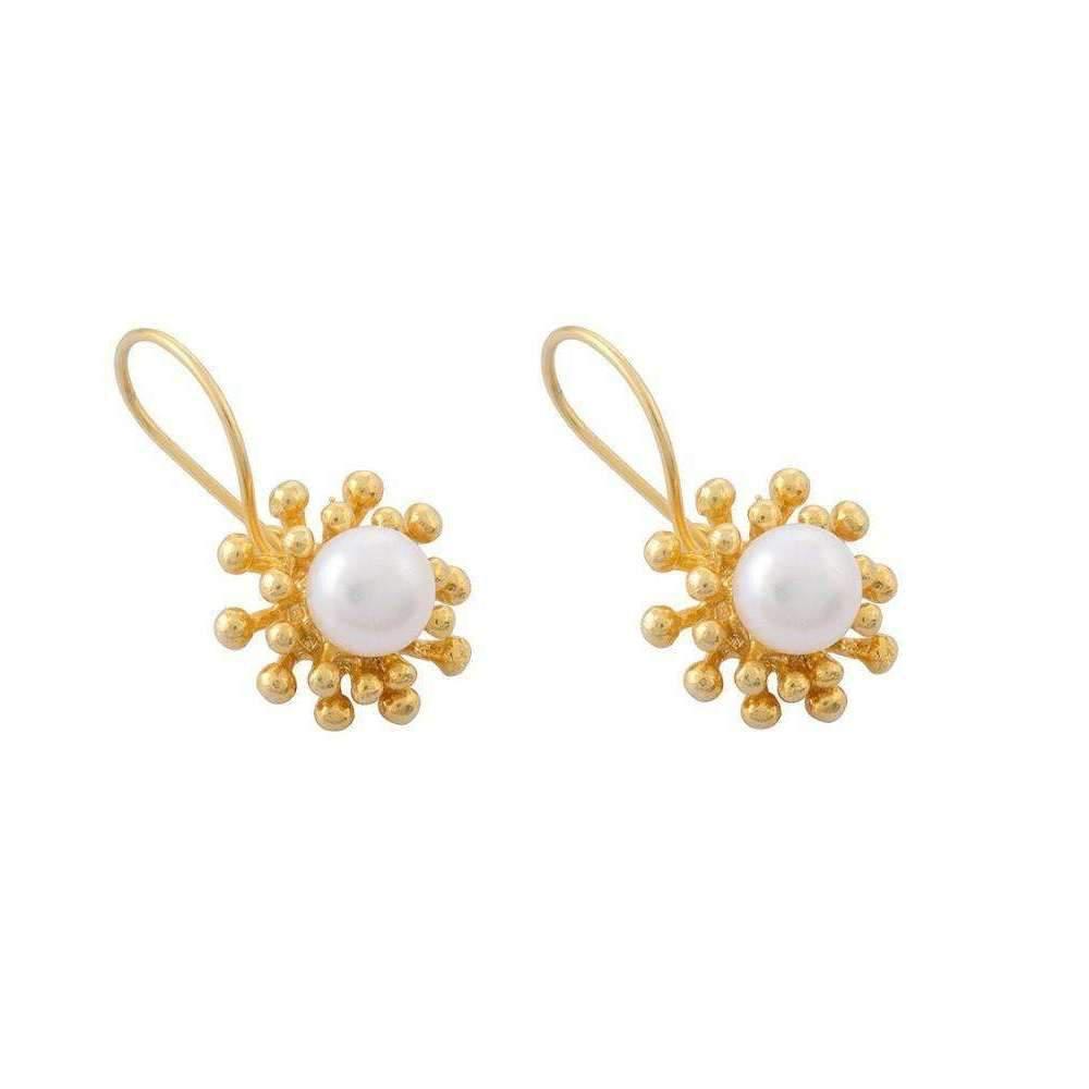 toosis Pearls On Nail Flowers Earrings LYwRYe