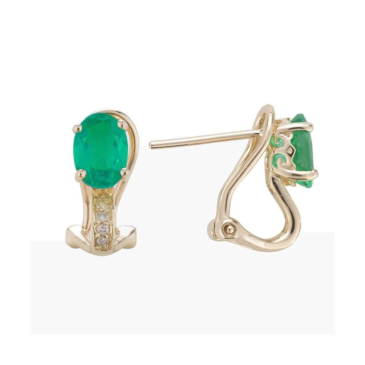 Eshvi May Emerald Earrings xGtVcslclJ