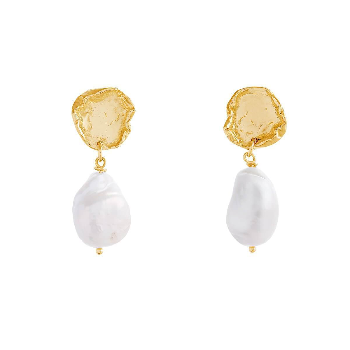 Deborah Blyth Jewellery Wave Stud Earrings With Pearls NyypTqede