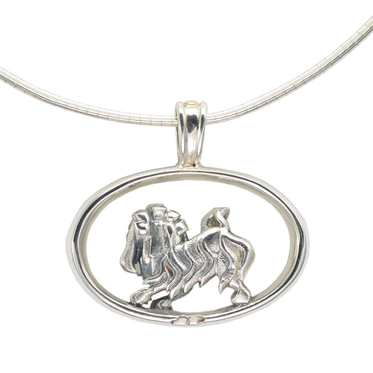 Donna Pizarro Designs Sterling Havanese Necklace With 14kt Accent JS6OuHg