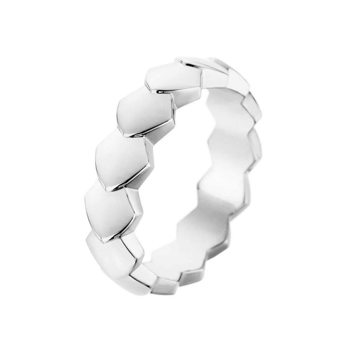 Akillis Python White Gold Diamond Tatou Ring - UK L 1/4 - US 5 3/4 - EU 52 FXVtk