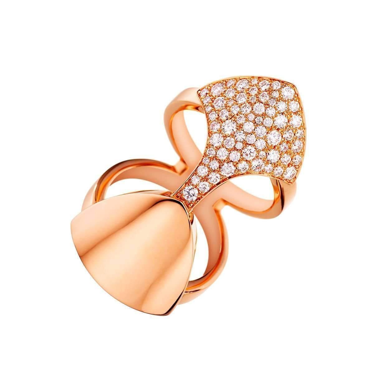 Akillis Python Armor Rose Gold Set With Diamonds Ring - UK L 1/4 - US 5 3/4 - EU 52 QT48Z