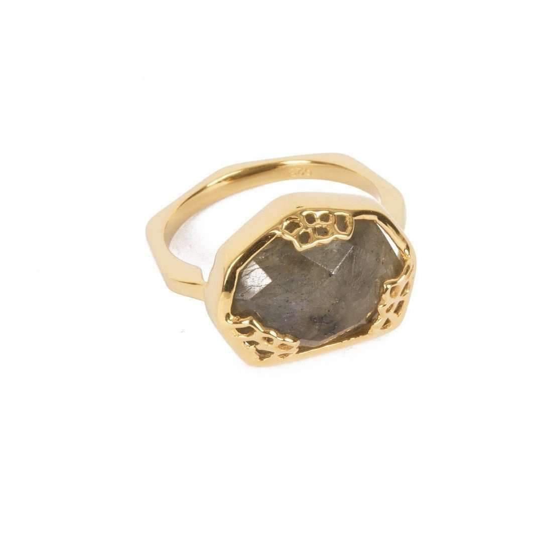 Neola Honeycomb Gold Ring - UK P - US 7 1/2 - EU 56 1/2 cTTGS3