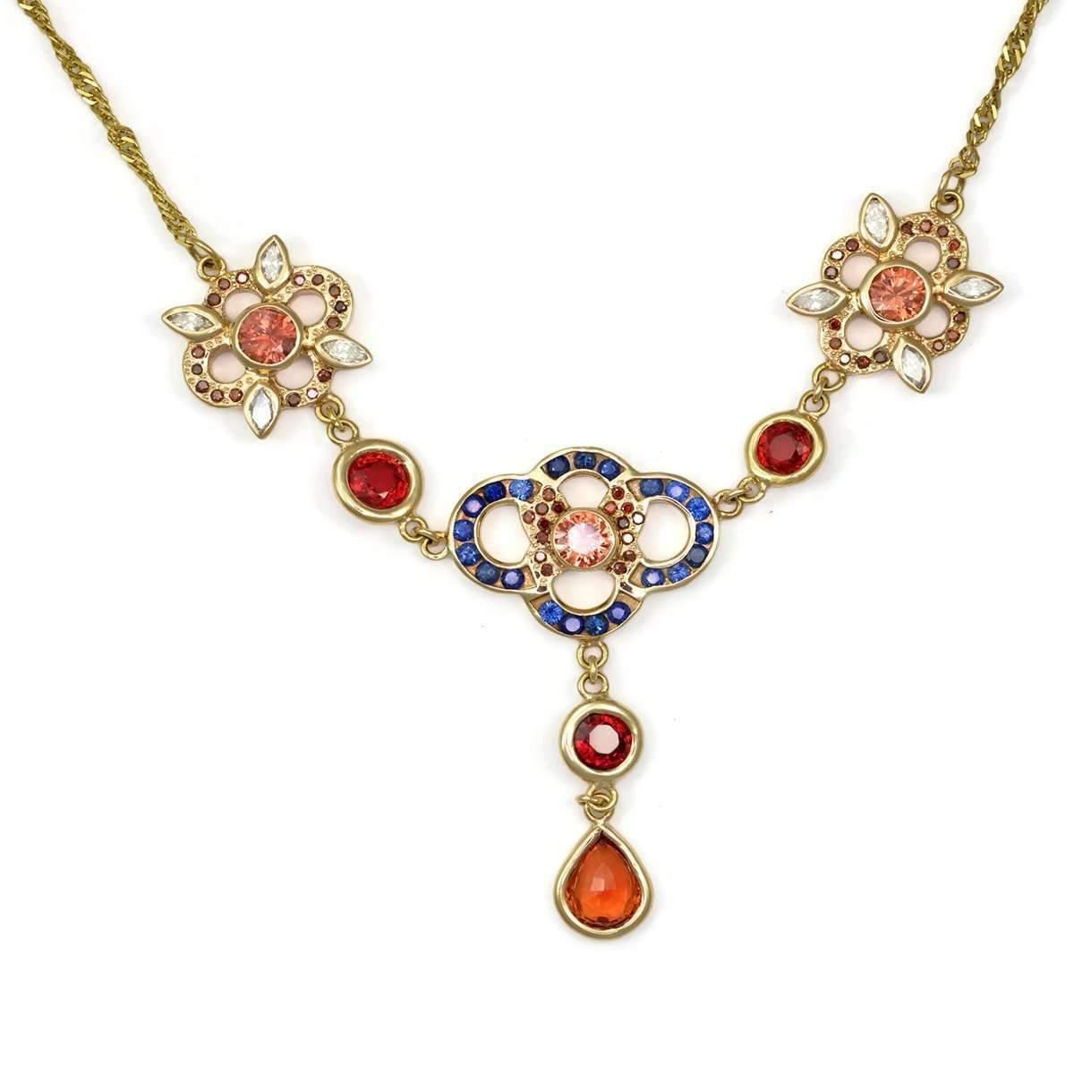 Donna Pizarro Designs Sapphire Diamond Necklace-Celtic gqbf9