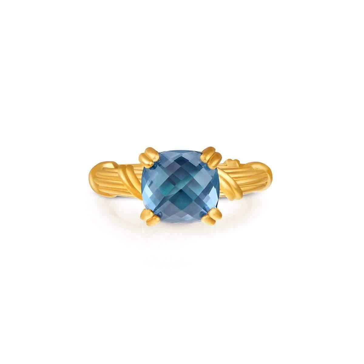 Donna Pizarro Designs 14kt London Blue Topaz And Diamond Ring - UK T 1/2 - US 10 - EU 62 1/4 jo6X47r