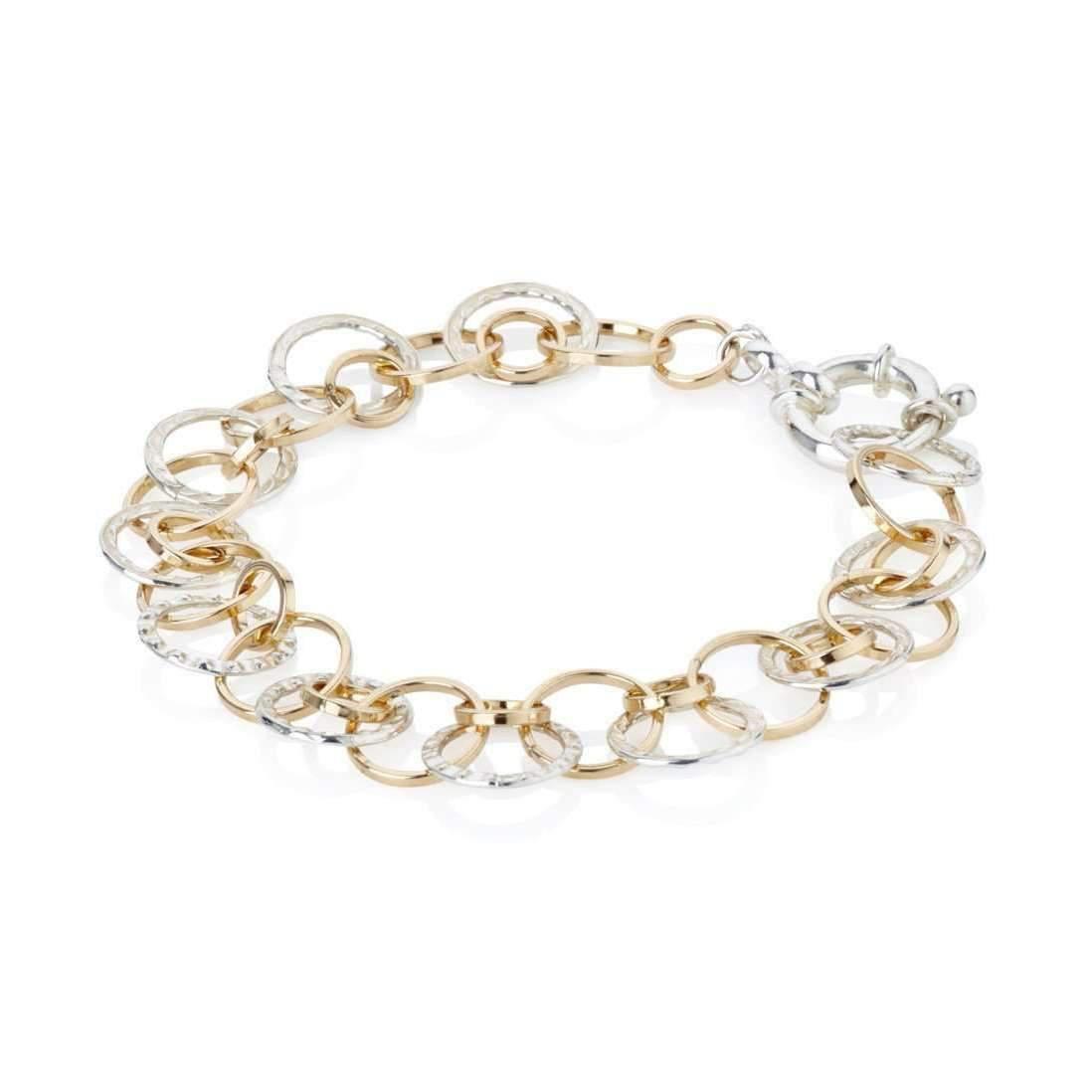Lavan Individual Mix Design Silver & Gold Bracelet - Medium (7-7.25) TilNGXq
