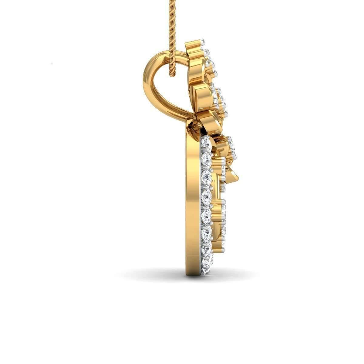 Diamoire Jewels Effloresce 18kt Yellow Gold Pendant M0572Q2TkX