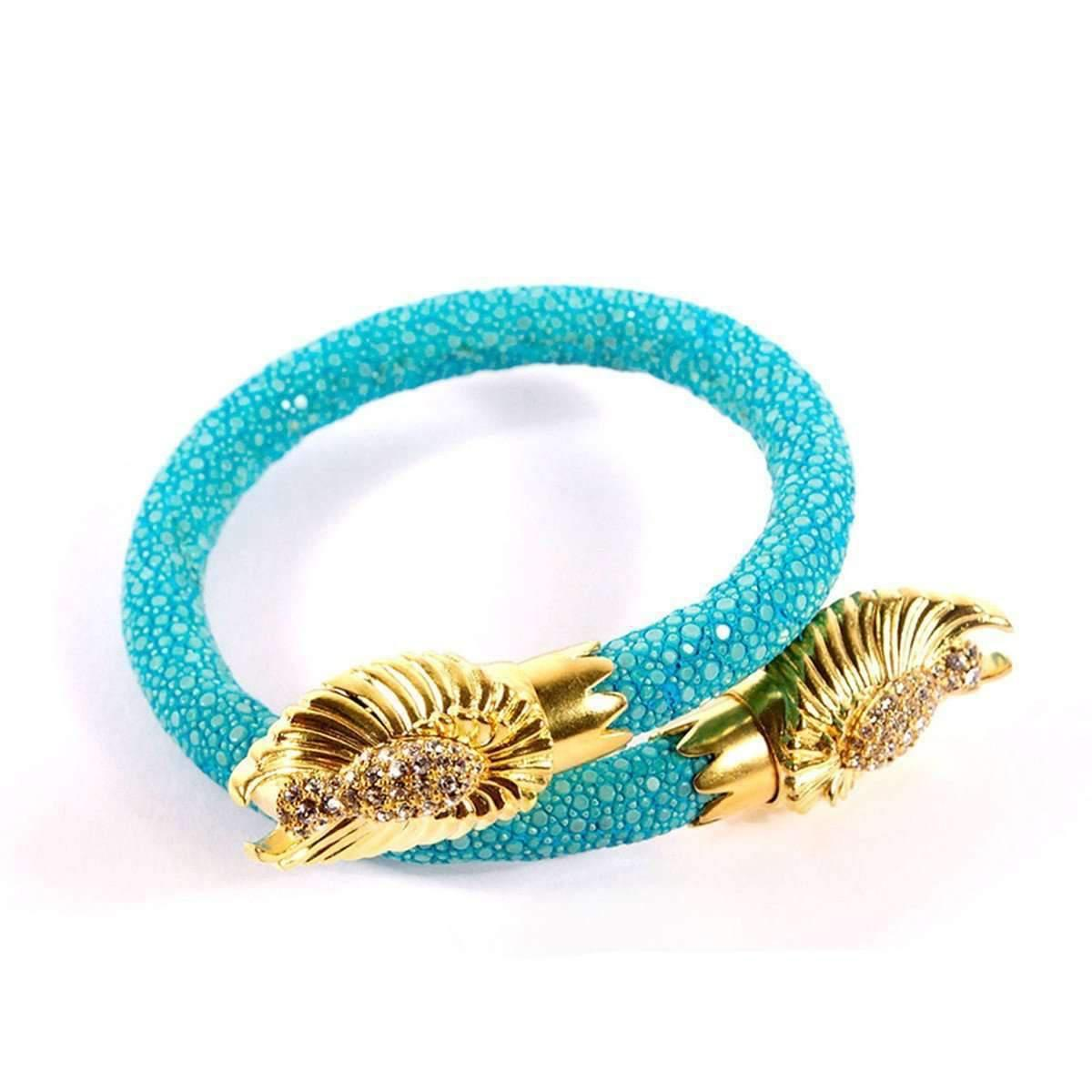 BuDhaGirl Buddha End Caps Bracelet - Focus And Healing - Turquoise 4jeY7T