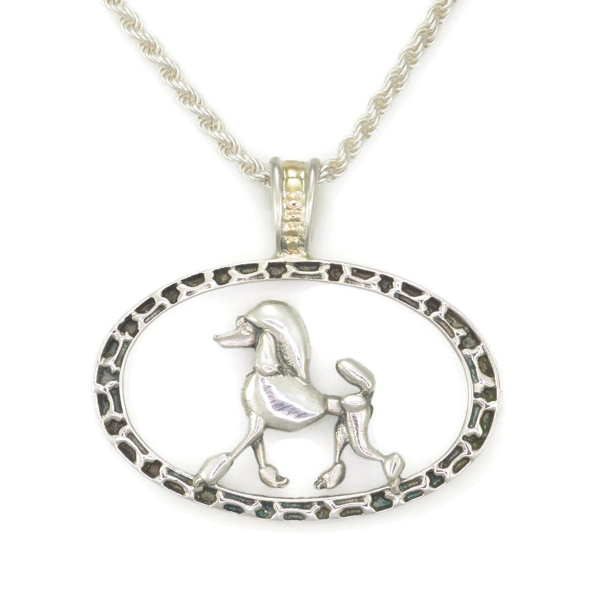 Donna Pizarro Designs 14kt Poodle Pendant With Diamond