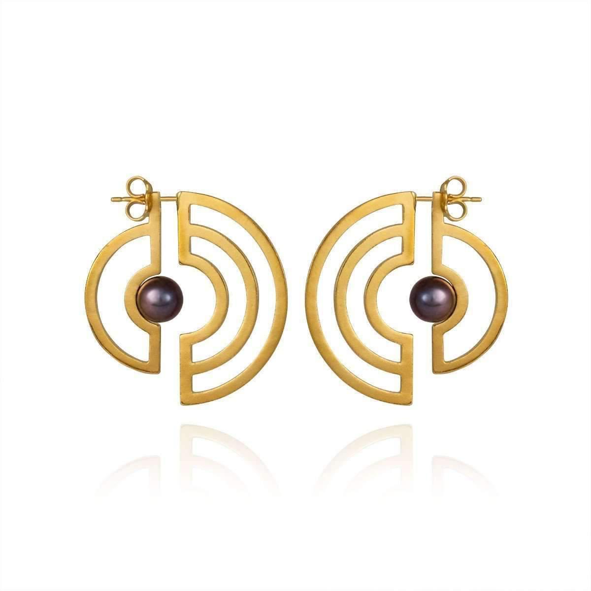 Cara Tonkin Gold Orbit Solaris Earrings PtUcM