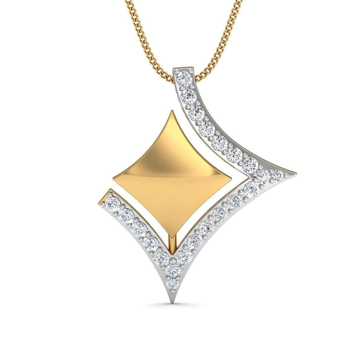 Diamoire Jewels Diamond and 14kt Yellow Gold Pave Pendant ddkHMbb