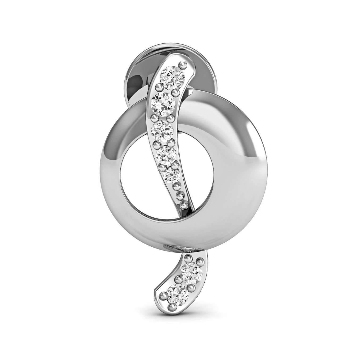 Diamoire Jewels Pave-Prong Diamond and 10kt White Gold Earrings Inspired by Nature ezoTIrBOK