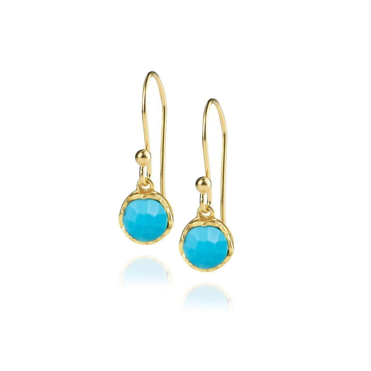 Zefyr Dosha Earrings Sterling Silver With Turquoise