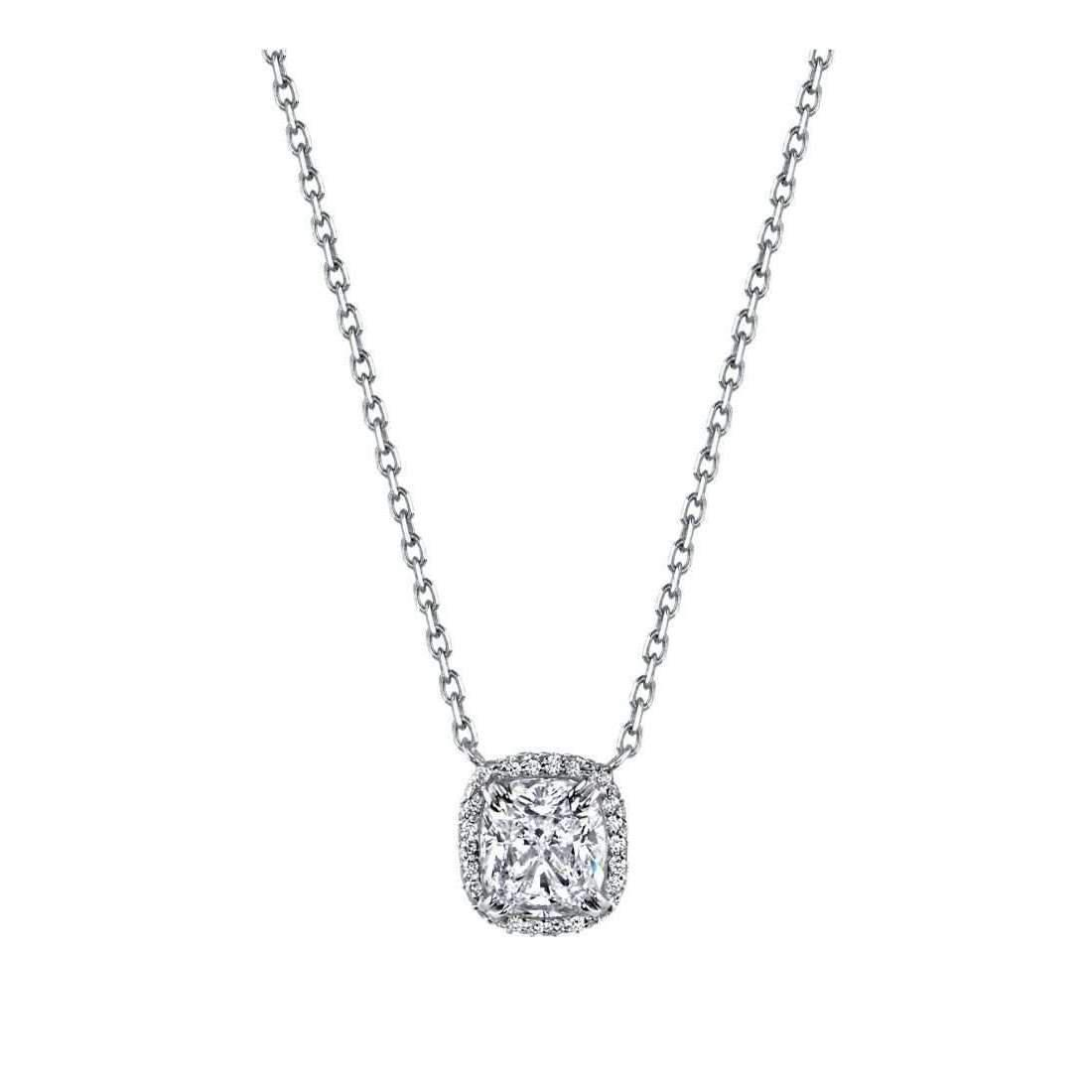 Harry Kotlar Rose Cut Oval Diamond Solitaire Necklace - 16 6Uf1cH