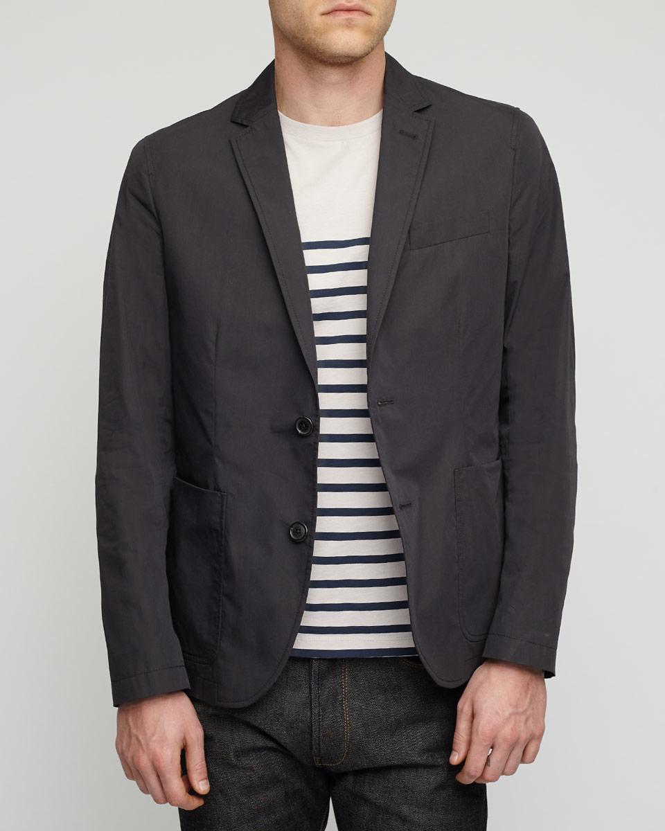 jigsaw patch pocket slim jacket in blue for lyst