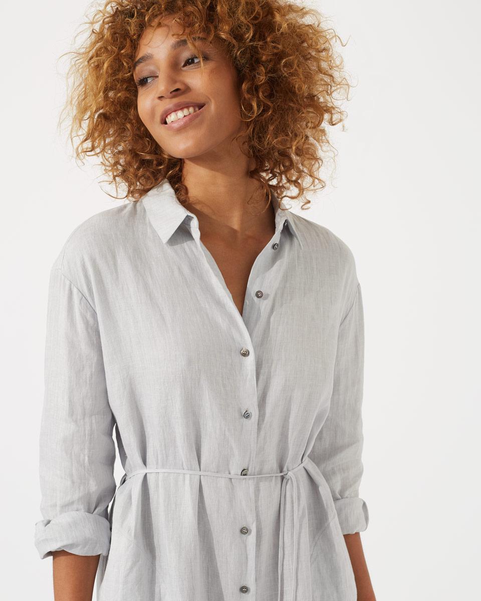 8d72b1a073 Jigsaw Linen Shirt Dress in Gray - Lyst