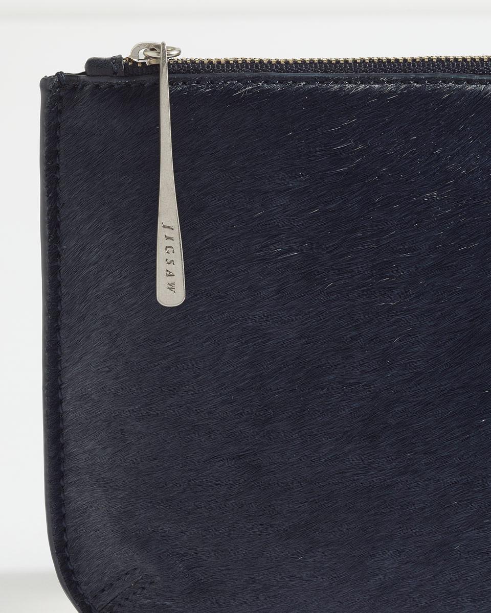 75ec04e06f3 Jigsaw Alba Medium Textured Pouch in Blue - Lyst