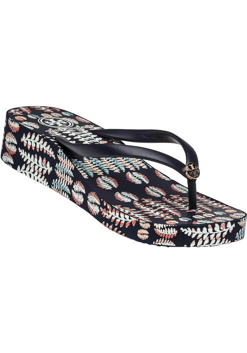 Tory Burch. Women's Blue Thandie Wedge Flip-Flops - Tory Burch Thandie Wedge Flip-Flops In Blue Lyst