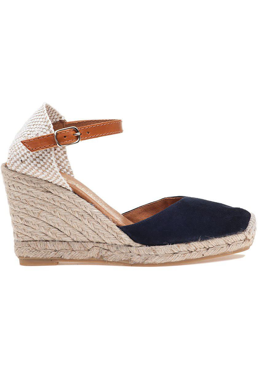 652f02884b9 Lyst - 275 Central Nantes Navy Suede Espadrille in Black