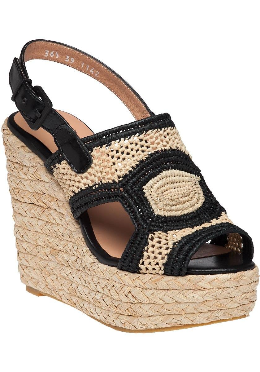78331b8eff97 Lyst - Robert Clergerie Drastic Natural Raffia Wedge