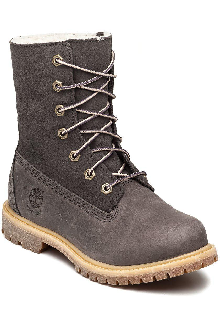 shoes for cheap hot sale discount sale Timberland Teddy Fleece Dark Grey Boot in Gray - Lyst