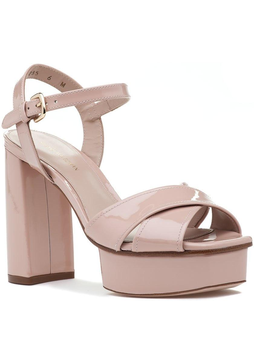 8589ee80525 Lyst - Stuart Weitzman Exposed Sandal Face Aniline Patent Leather in ...