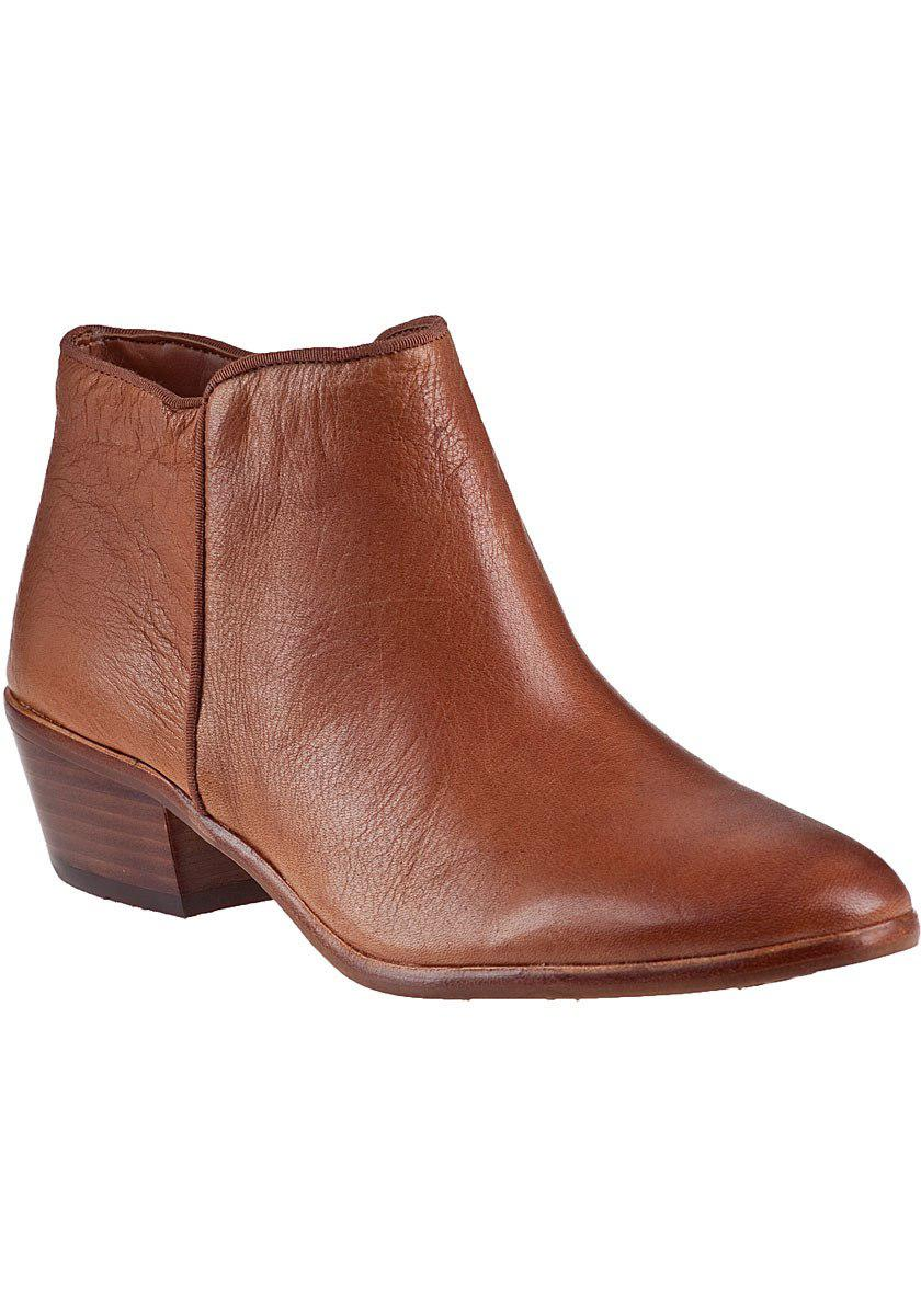 9f000a0b0310d7 Lyst - Sam Edelman Petty Ankle Boot Saddle Leather in Brown - Save 20.0%