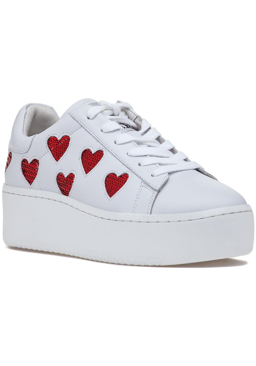 5ba540ffb472 Lyst - Ash Cute Platform Sneaker White red in White