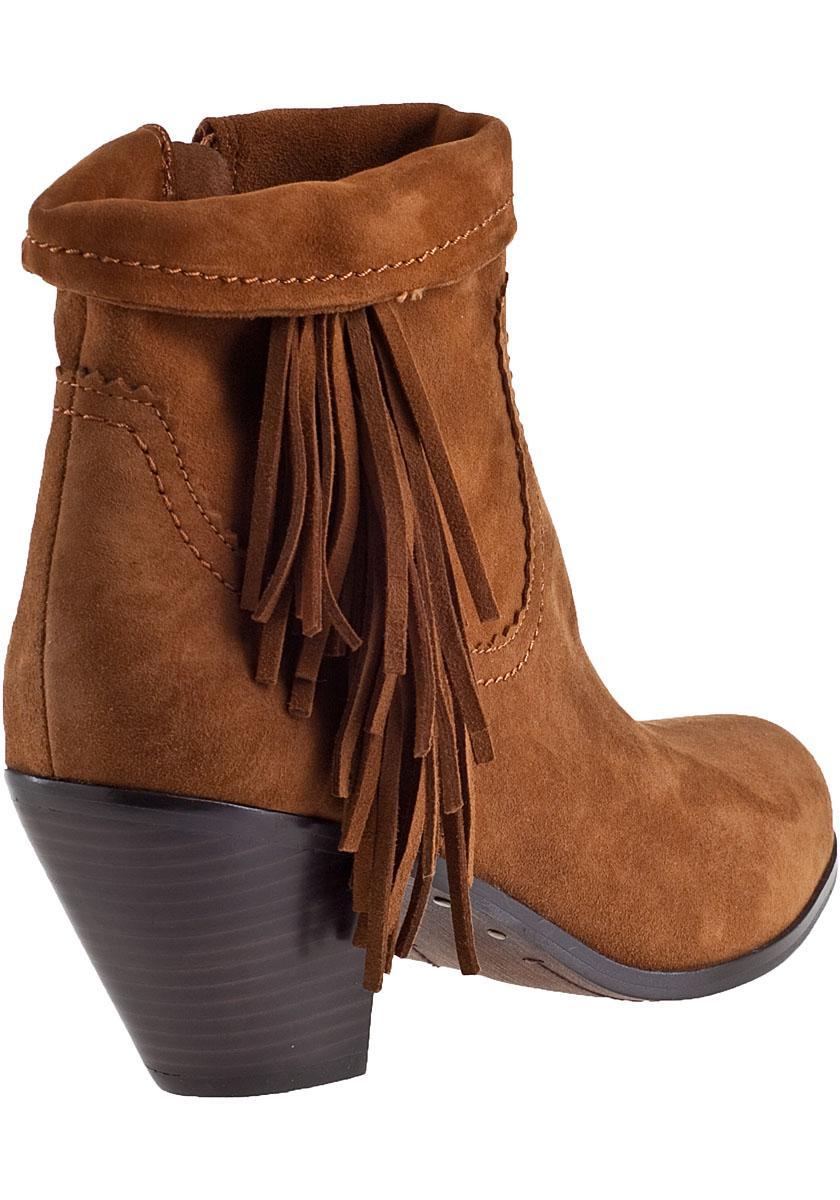 ce447d01c6c5 Lyst - Sam Edelman Louie Fringe Boot in Brown