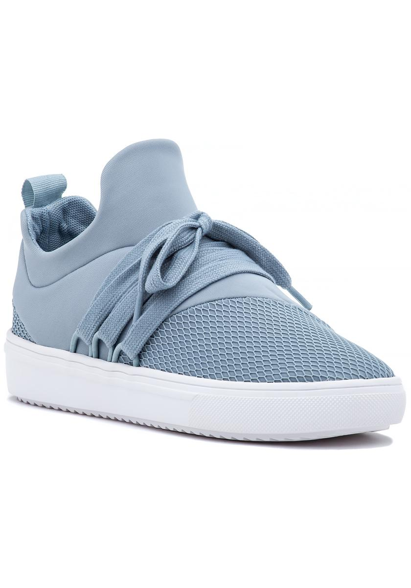 3f92bb33d44 Steve Madden Lancer Sneaker Light Blue Fabric in Blue - Lyst