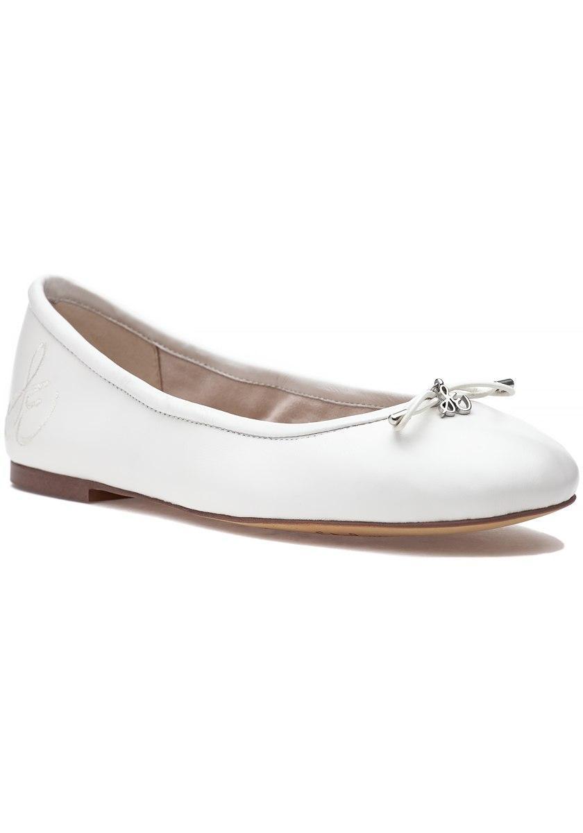 1352ae60febdd Lyst - Sam Edelman Felicia Flat White Leather in White