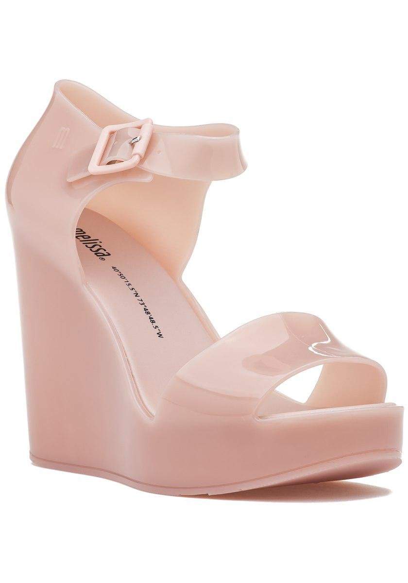 14be4b4557a Lyst - Melissa Mar Wedge Light Pink in Blue
