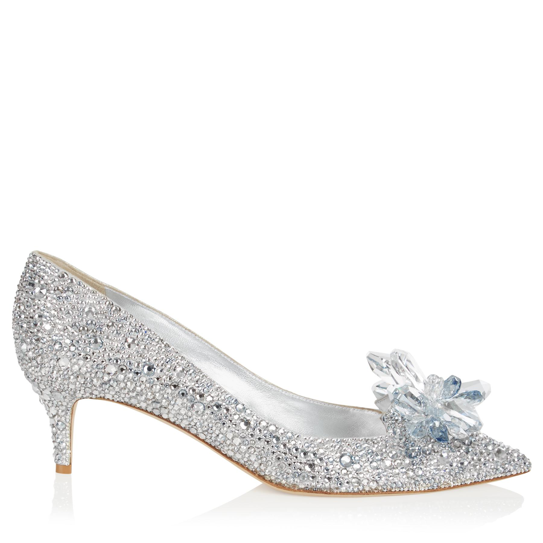 15396df6930 Lyst - Jimmy Choo Allure Crystal Covered Pointy Toe Pumps in Metallic
