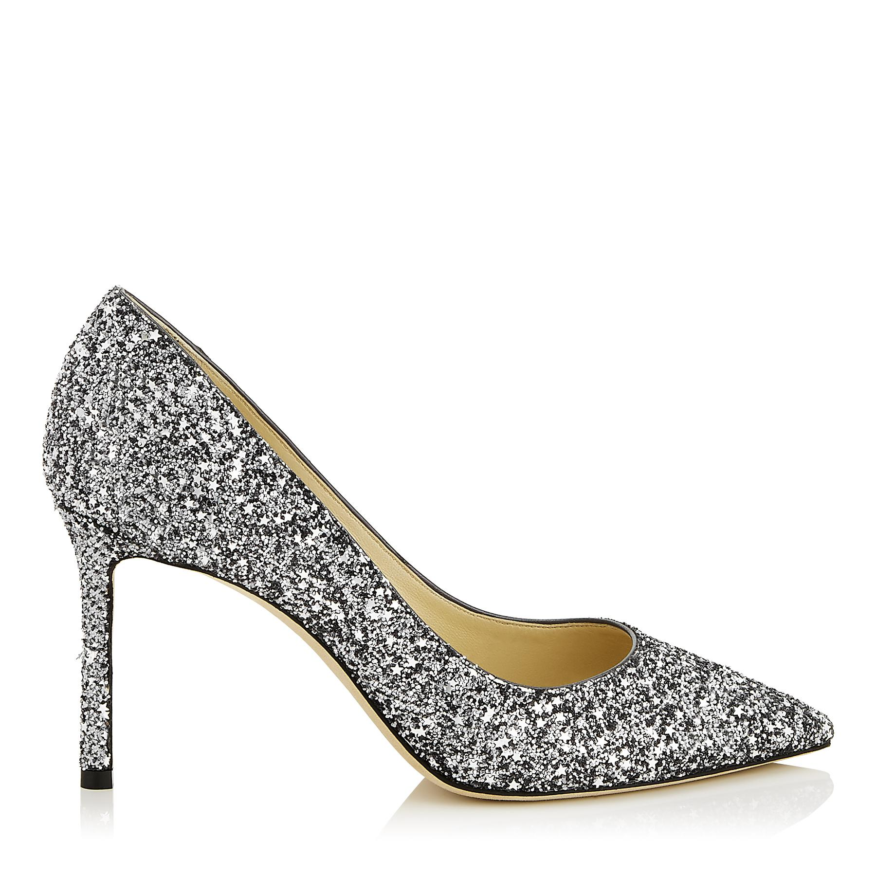 8918daac8442 Jimmy Choo. Women s Romy 85 Gunmetal Star Coarse Fabric Pointy Toe Pumps