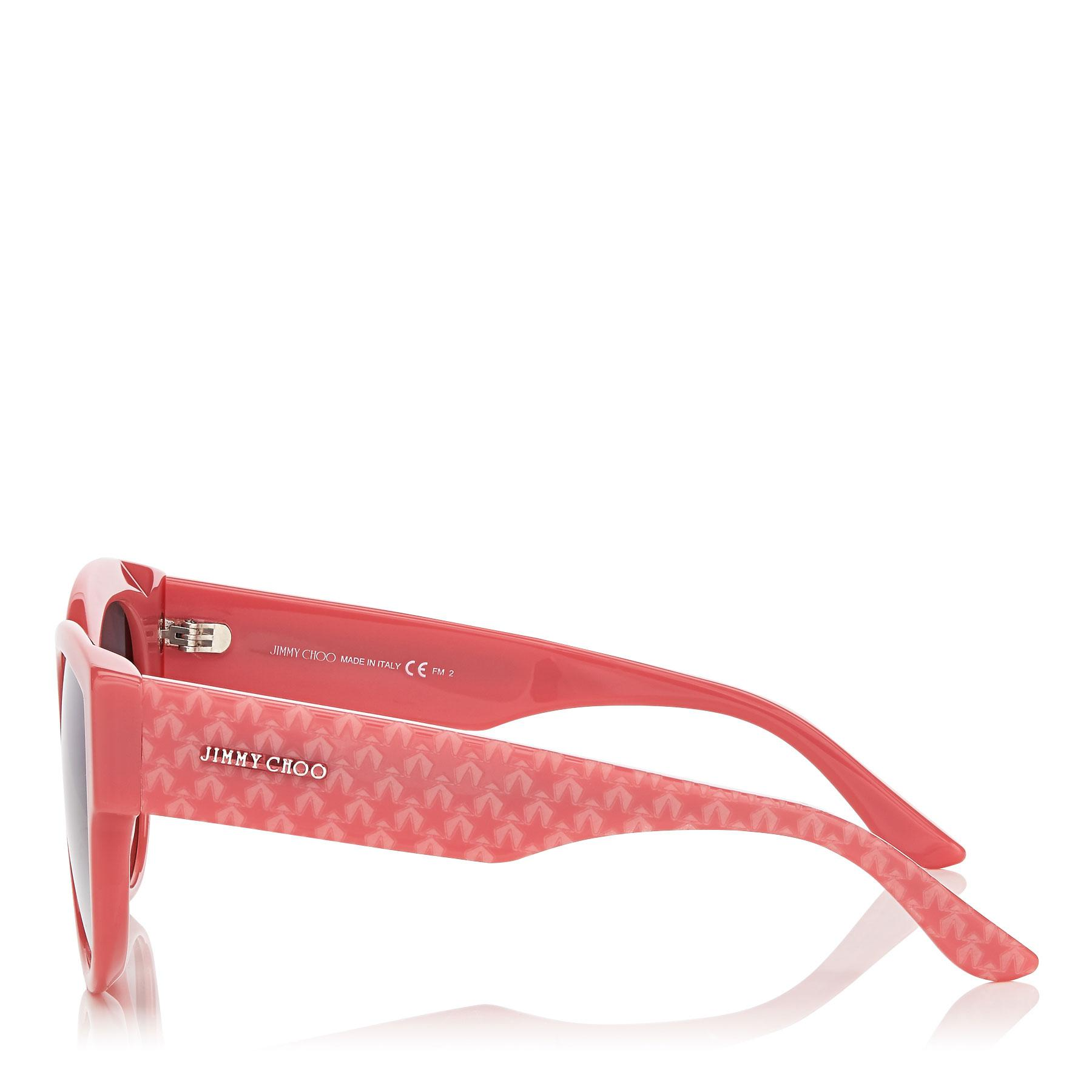1e60b5893b Jimmy Choo - Pollie Pink Cat-eye Sunglasses With Star Detailing - Lyst.  View fullscreen
