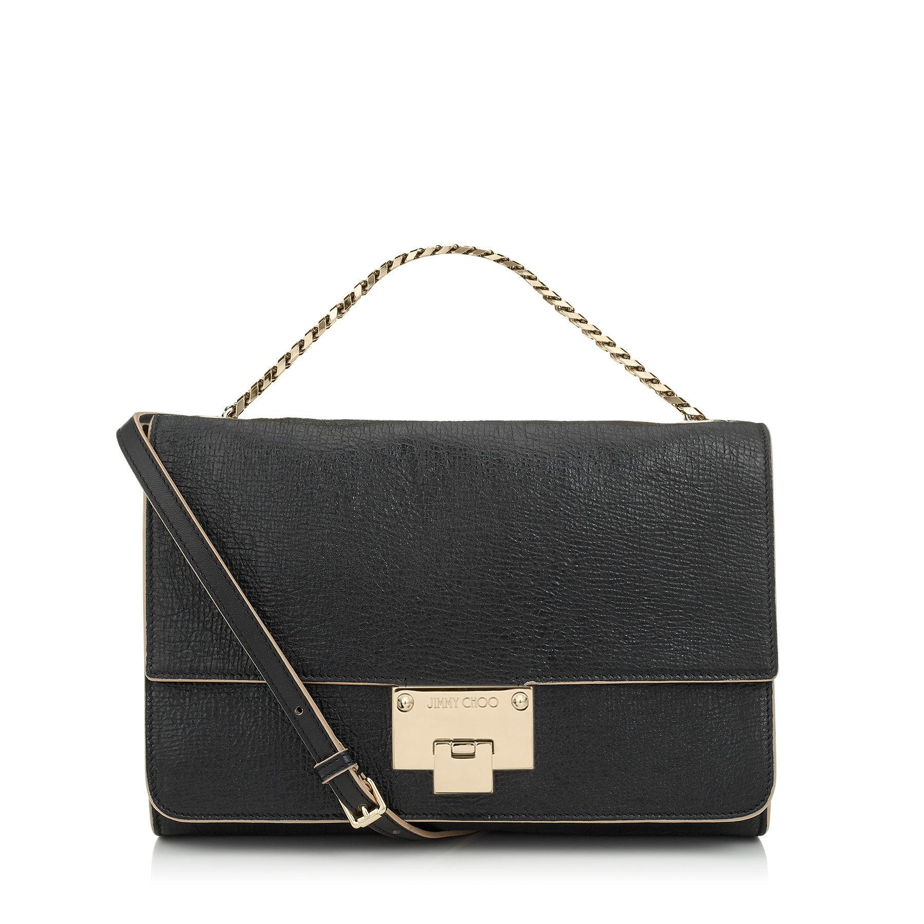 b3f407e6cc Jimmy Choo Rebel Soft/s Black Washed Crinkled Leather Shoulder Bag ...
