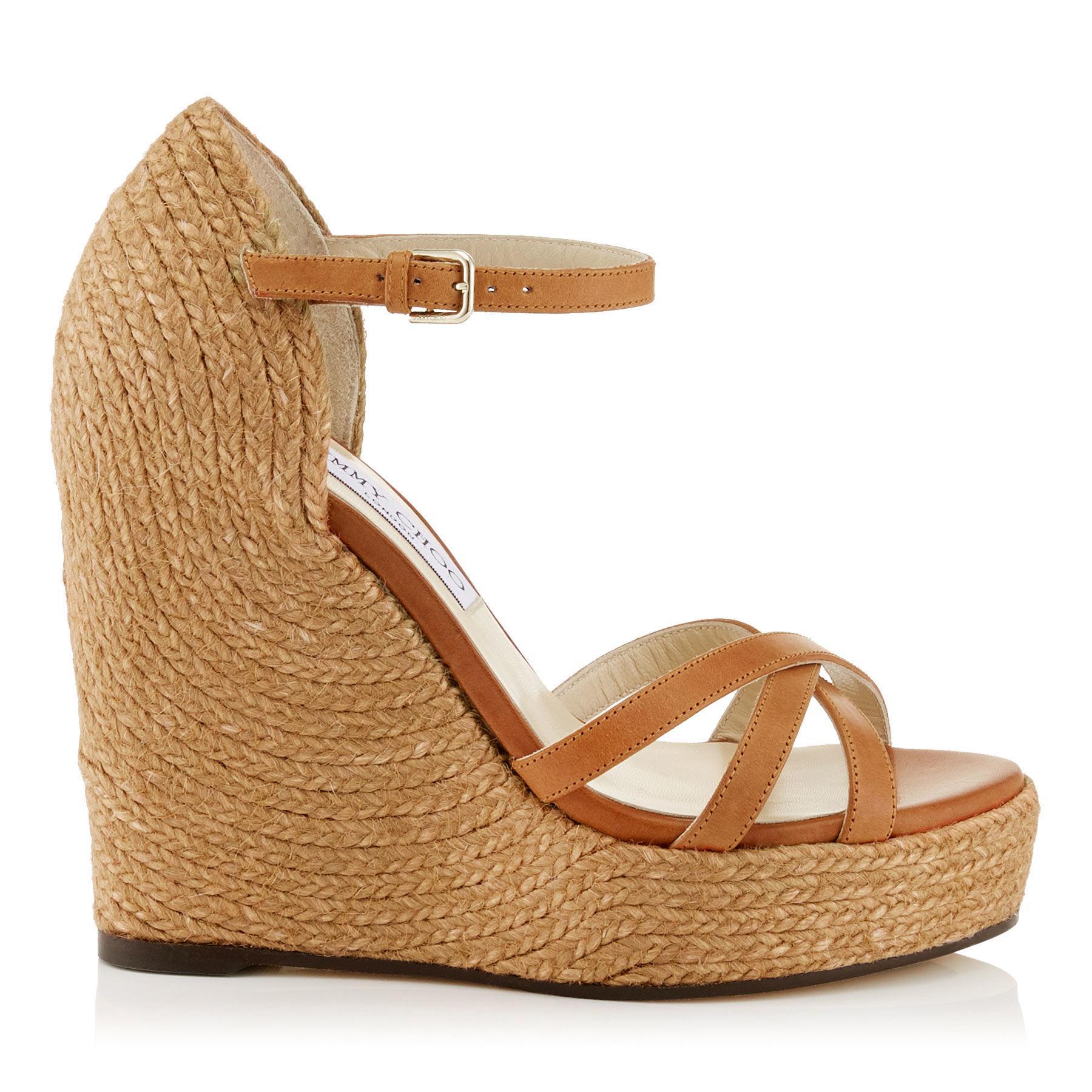 Jimmy choo Delaney high heeled platform wedge sandals Xldz5