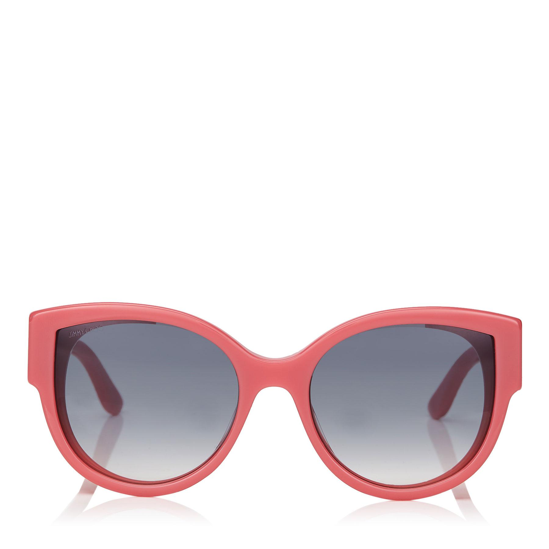 4628e2d78c Jimmy Choo. Women s Pollie Pink Cat-eye Sunglasses With Star Detailing