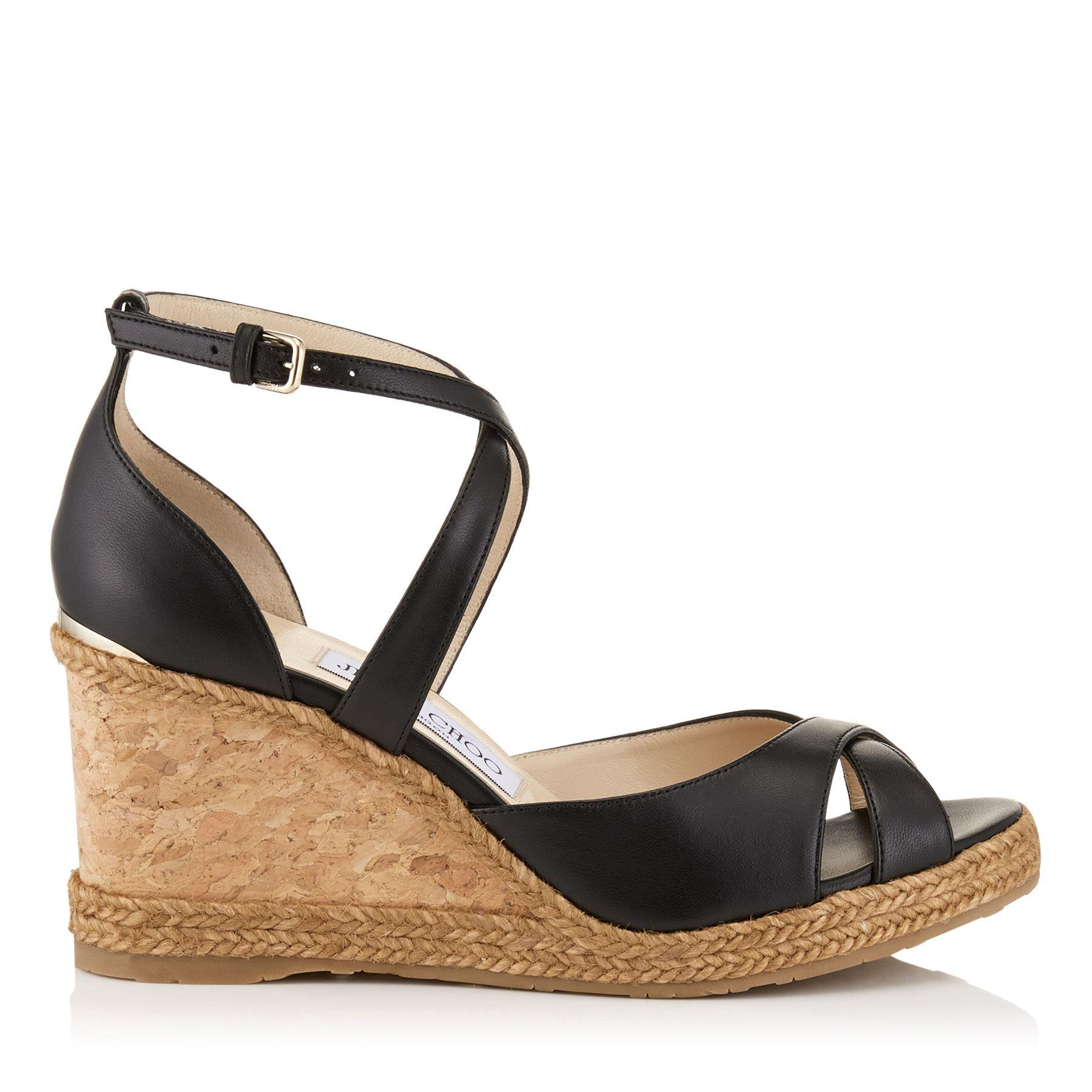 Jimmy choo Alita 105 leather wedge sandals Outlet With Mastercard 9kCH02umTP