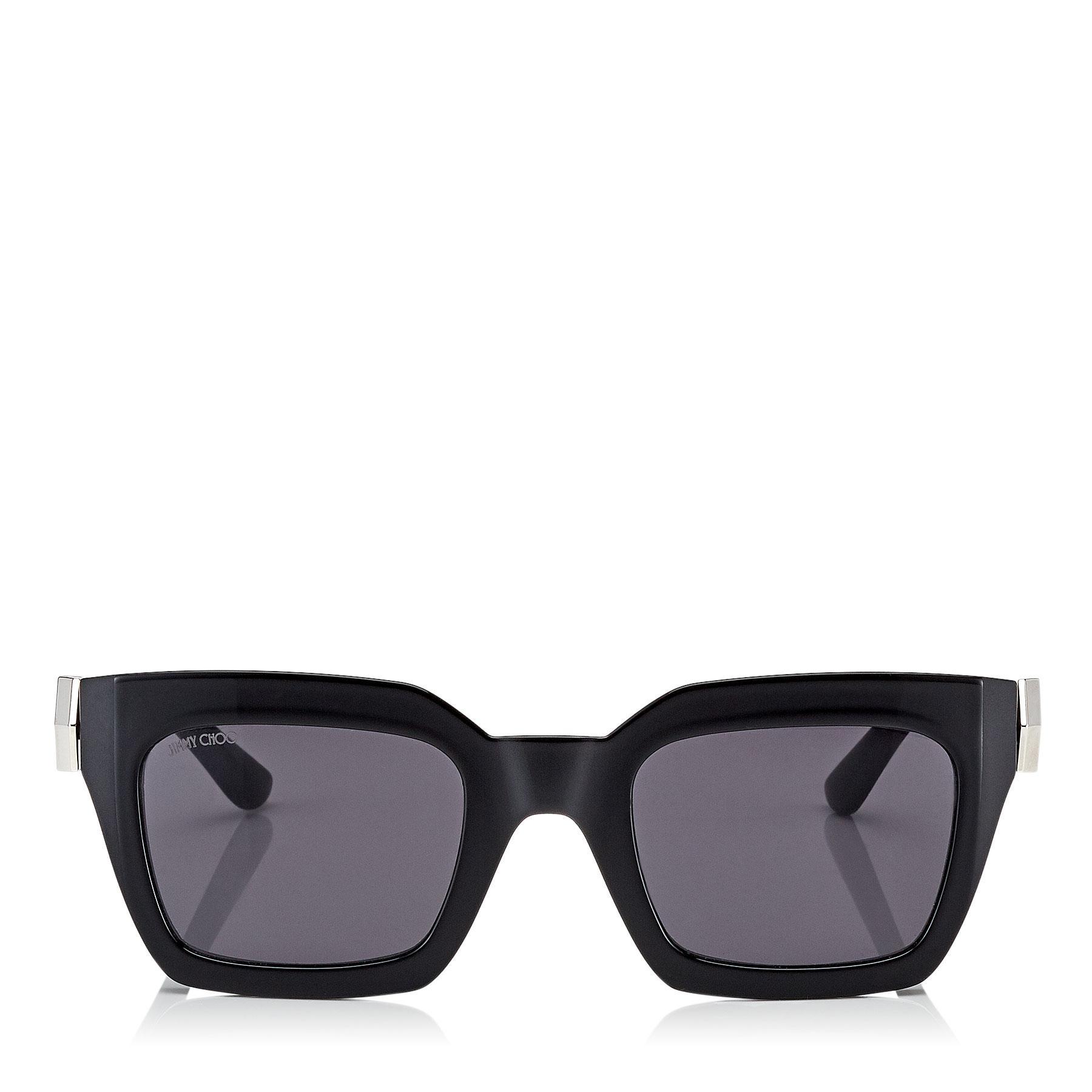 8a5c63f22b98 Jimmy Choo Maika Grey Cat Eye Sunglasses With Black Frame in Gray - Lyst