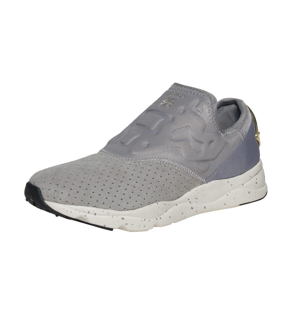 Reebok Furylite Slip-on Lux Sneaker in Gray - Lyst a230fd698
